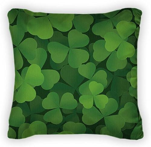 Gear New St Patrick s Day Shamrock Patt Throw Pillow, Poplin, 18×18, GN19179