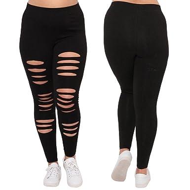 596fdcc492e6d Women's Plus Size Summer Lightweight Breathable Full Length Leggings Yoga  Pants for Women Capri's Leggings (