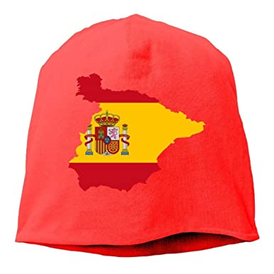 jingqi Unisex Classic Knitted Caps, Spain Map Ski Cap for Mens ...