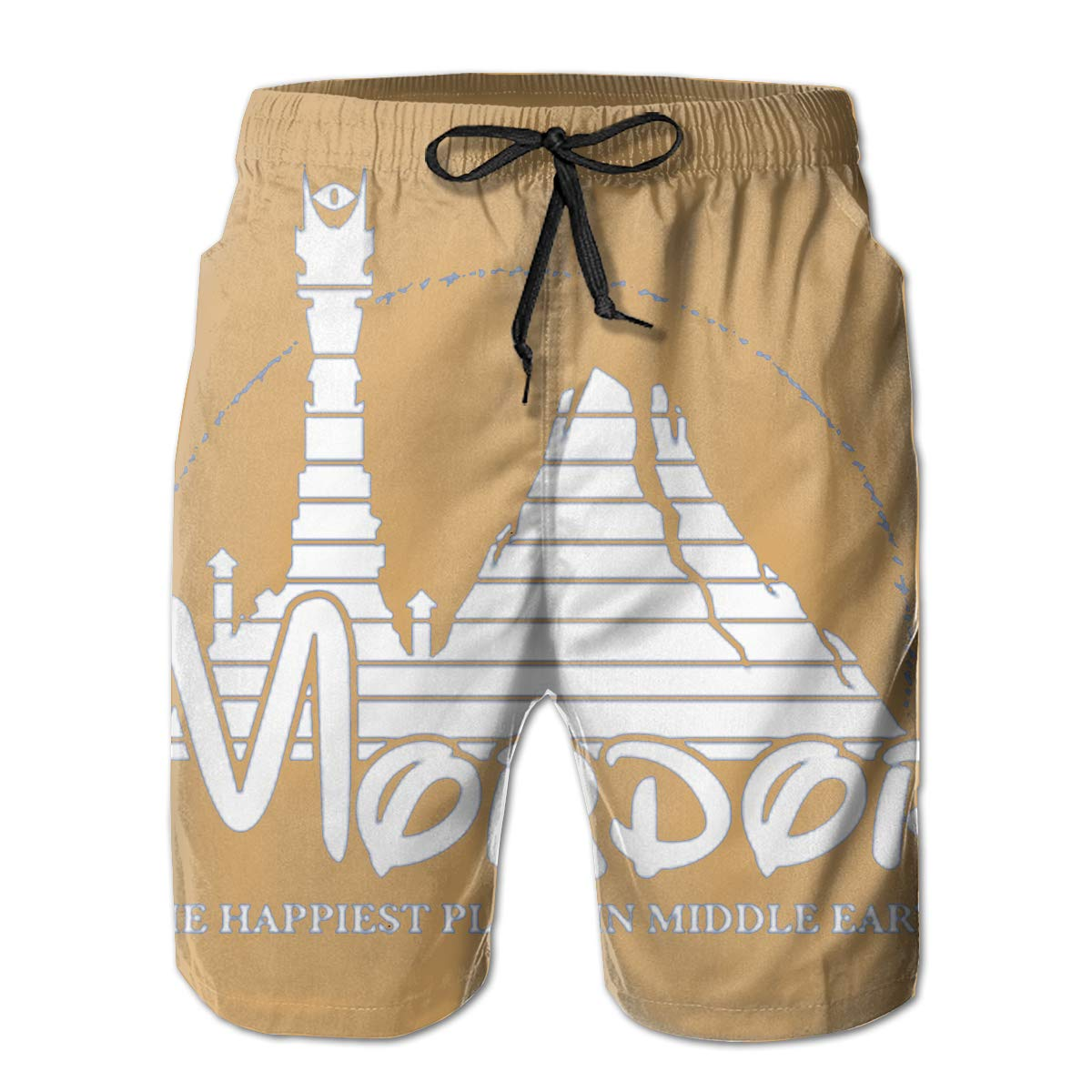 The Happiest Place in Middle Earth Mens Swim Trunks Bathing Suit Beach Shorts