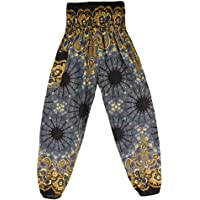 BaronHong Harem Pants for Women Plus Size Print High Waist Boho Casual Yoga Travel Lounge Trousers