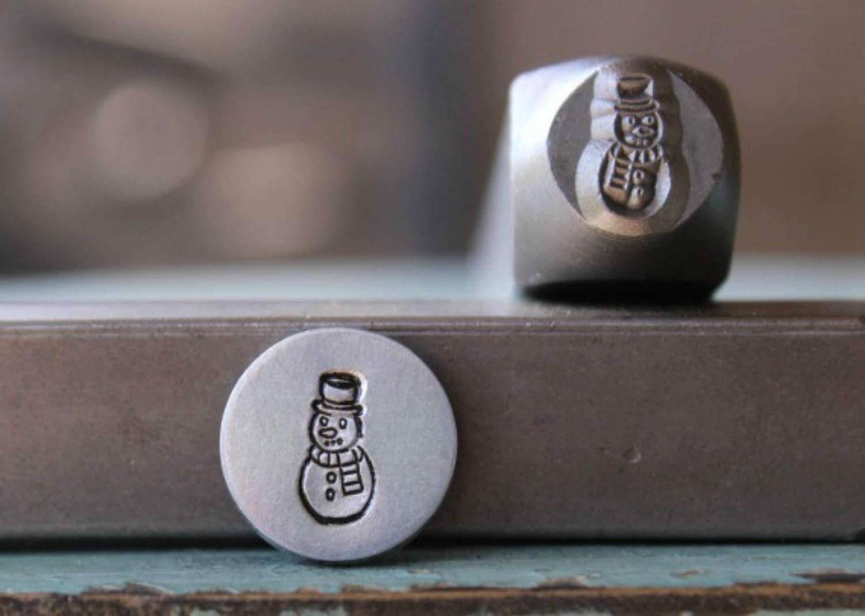 Brand New 8mm Snowman Metal Punch Design Stamp Supply Guy CH-239