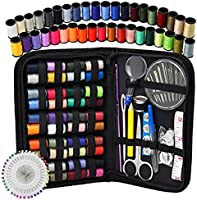 Sewing Kit -DIY Premium Sewing Supplies,for Home,Travel & Emergencies - Filled with Mending and Sewing Needles...