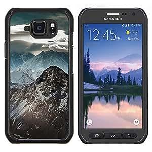 Montaña Nevada del Himalaya- Metal de aluminio y de plástico duro Caja del teléfono - Negro - Samsung Galaxy S6 active / SM-G890 (NOT S6)