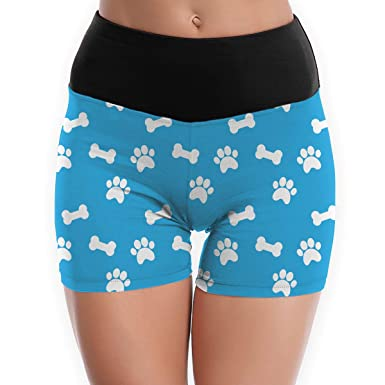 Amazon.com: Bones and Paws Womens Tummy Control Yoga Shorts ...
