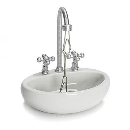 Amazon.com : Wash Basin Magnetic Paper Clip Holder Mini Sink Faucet ...