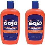 Gojo 957 Natural Orange Pumice Hand Cleaner - 14 oz. - 2 Pack