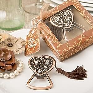 Antique Design Copper Heart Bottle Opener by Fashioncraft