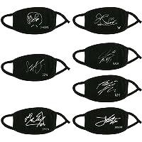 Bestomrogh Kpop BTS V/Suga / Jungkook/Jimin / Jin J-Hope/RM Le Même Style Masque de Signature Masque Anti-poussière Unisexe en Coton Noir