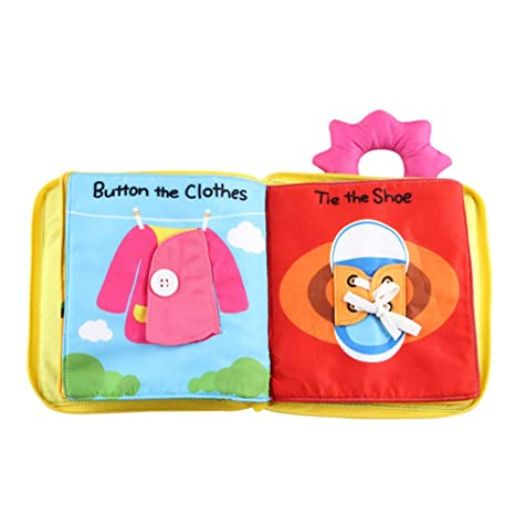 Scrox 1x Libros de Tela para Bebes 0-1-3 años Gracioso Libros Blandos