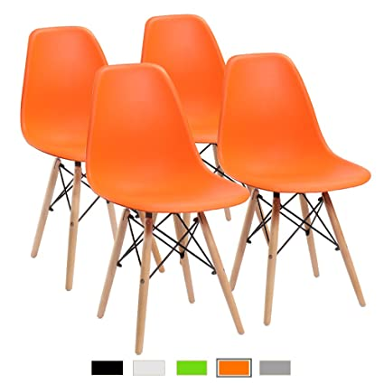 d834d2891fd68 Furmax Pre Assembled Modern Style Dining Chair Mid Century Orange Modern  DSW Chair