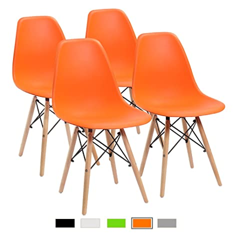 Enjoyable Furmax Pre Assembled Modern Style Dining Chair Mid Century Modern Dsw Chair Shell Lounge Plastic Chair For Kitchen Dining Bedroom Living Room Side Camellatalisay Diy Chair Ideas Camellatalisaycom