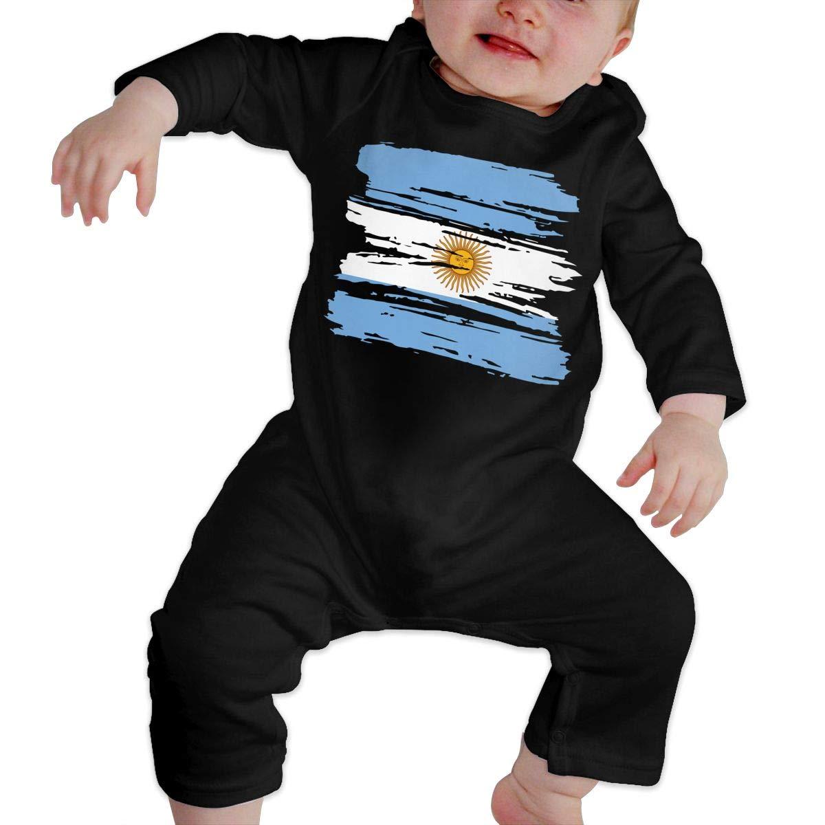 UGFGF-S3 Grunge Argentina Flag Newborn Baby Long Sleeve Romper Jumpsuit Jumpsuit
