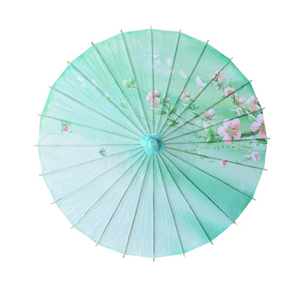 Non-waterproof Handmade Chinese Oil Paper Umbrella,Peach   B06Y68PFJ5