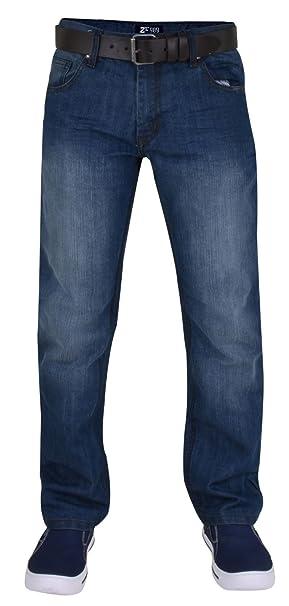 New Mens Enzo Straight Leg Jeans Designer Regular Fit Denim