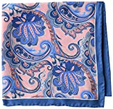 Buttoned Down Men's Classic Silk Hand Rolled Pocket Square, pink paisley, One Size
