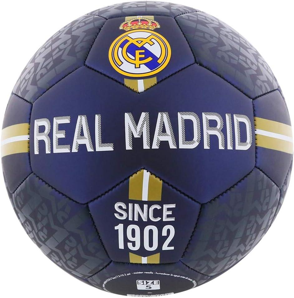 Real Madrid Balón de fútbol, tamaño 5.: Amazon.es: Deportes y aire ...