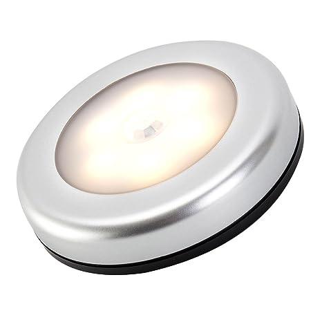 3pcs Amir luz Sensor de movimiento inalámbrico funciona con pilas LED luz de noche con adhesivo