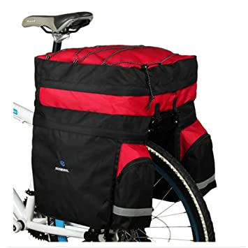 c97f10966d93 ROSWHEEL Waterproof 60L MTB Bicycle Carrier Bag 3 in 1 Rear Rack Bike Trunk  Bag Luggage Pannier Back Seat Double Side Cycling Bag Two Bags Outdoor  Cycling ...
