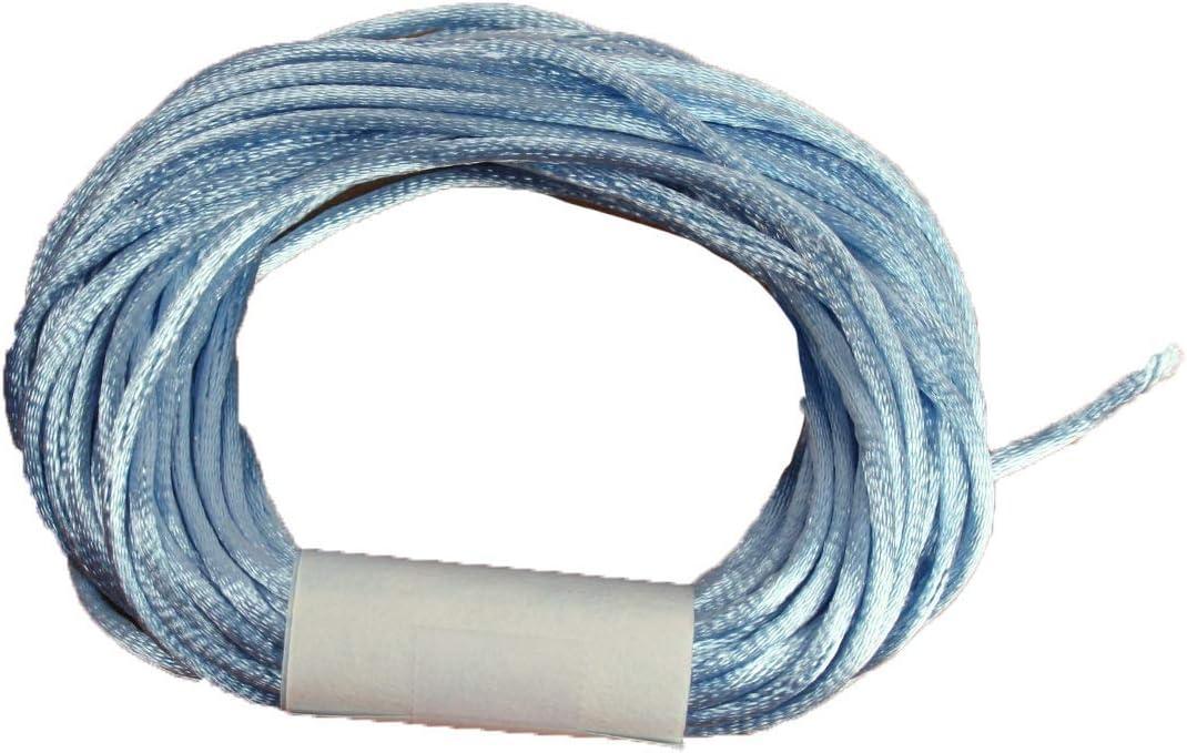 10 Yards Antique Blue 2mm Satin Rattail Cord Rat Tail Choose Color