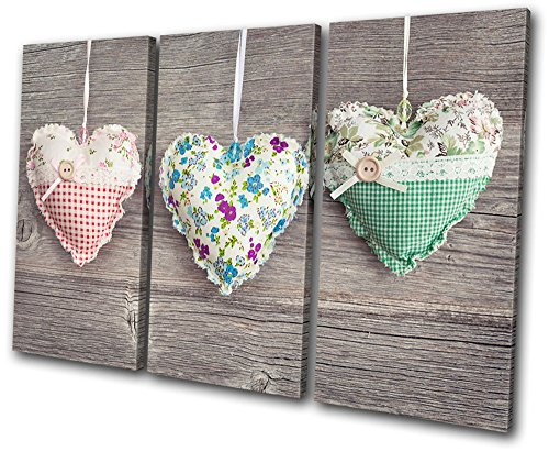 Bold Bloc Design - Love Hearts Shabby Chic - Canvas Art Box