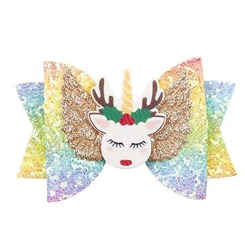 Unicorns Glitter Cheer Bow Handmade item.