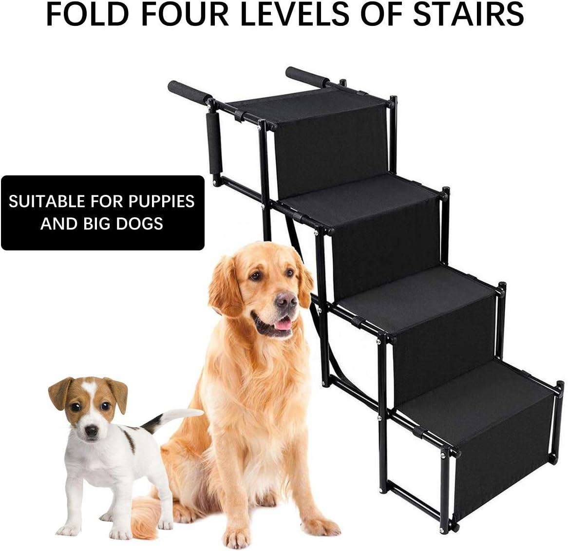 Bilisder Rampa per Cani Utilizzabile per Tutti i Veicoli Pieghevole Scaletta per Cani Grandi e Piccoli Caricabili Fino a 70 kg