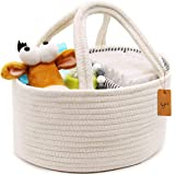 Baby Diaper Caddy Portable Storage Bin with Handles Removable Changeable Compartments for Diapers, Baby Wipes, Kid Toys