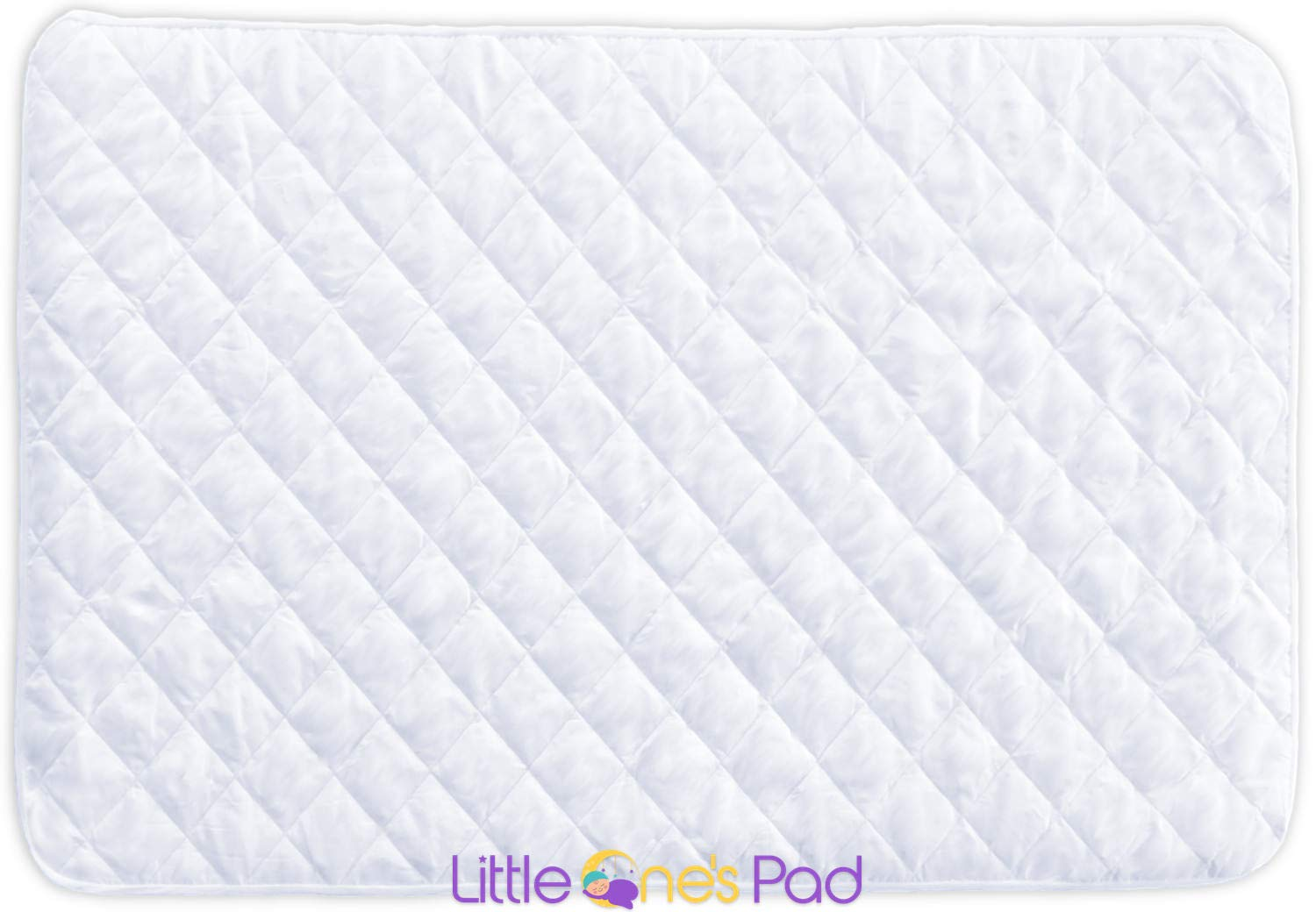 Little One's Pad Pack N Play Crib Mattress Cover - 27'' X 39'' - Fits Most Baby Portable Cribs, Play Yards and Foldable Mattresses - Waterproof, Dryer Safe - Comfy and Soft Fitted Crib Protector by Little One's Pad