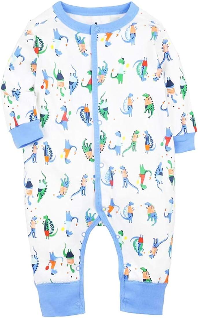CARETOO Baby Strampler Jungen M/ädchen Baumwolle Baby-Nachtw/äsche Cartoon Schlafanzug Overalls mit 0-24 Monate