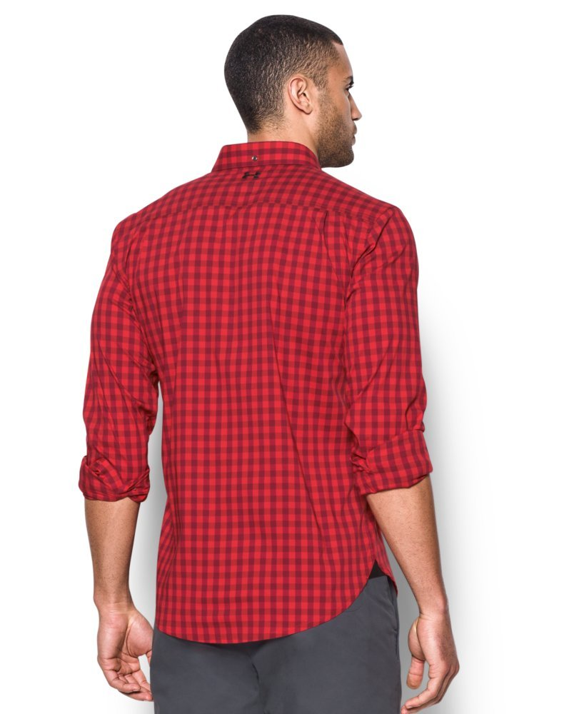 Under Armour Men's Performance Woven Shirt, Red/Cardinal, Small by Under Armour (Image #2)