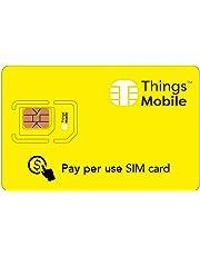 SIM Card dati Things Mobile a consumo – senza costi iniziali e canoni mensili. GSM/2G/3G/4G con € 10 di credito incluso è ideale per non avere costi fissi.