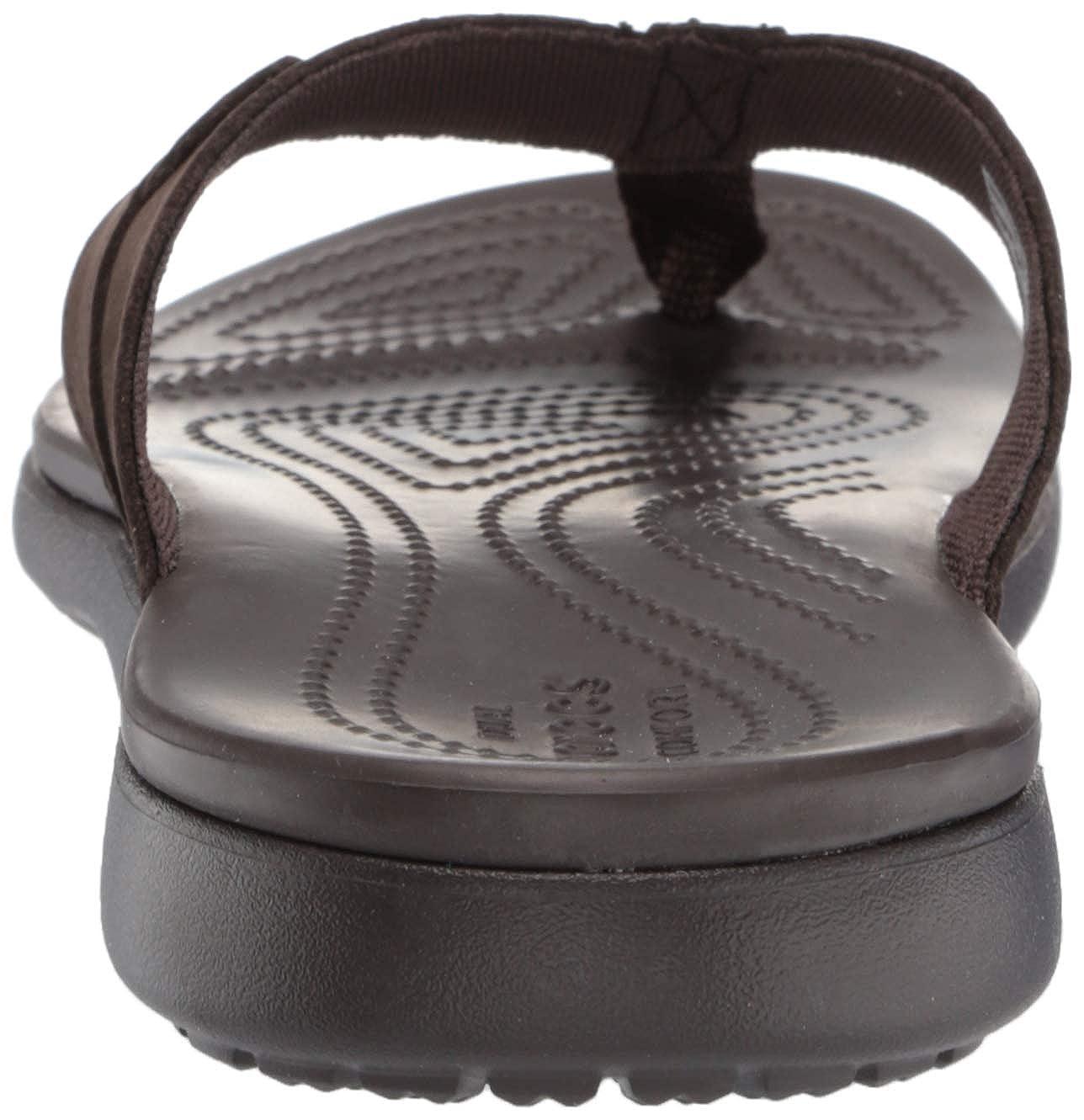 Crocs Mens Santa Cruz Leather Flip M Beach /& Pool Shoes