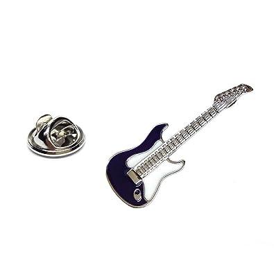 Gemelolandia Pin de Solapa Guitarra Eléctrica Azul Marino: Amazon.es: Joyería