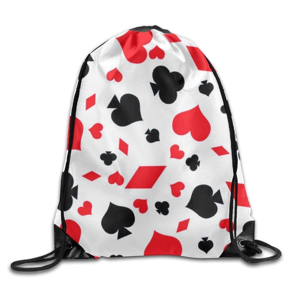 Liumiang Sacs à Dos,Sacs de Sport,Sacs à Cordon, Eco-Friendly Pirnt Poker Mode Exotic Drawstring Bag for Traveling Or Shopping Casual Daypacks School Bags