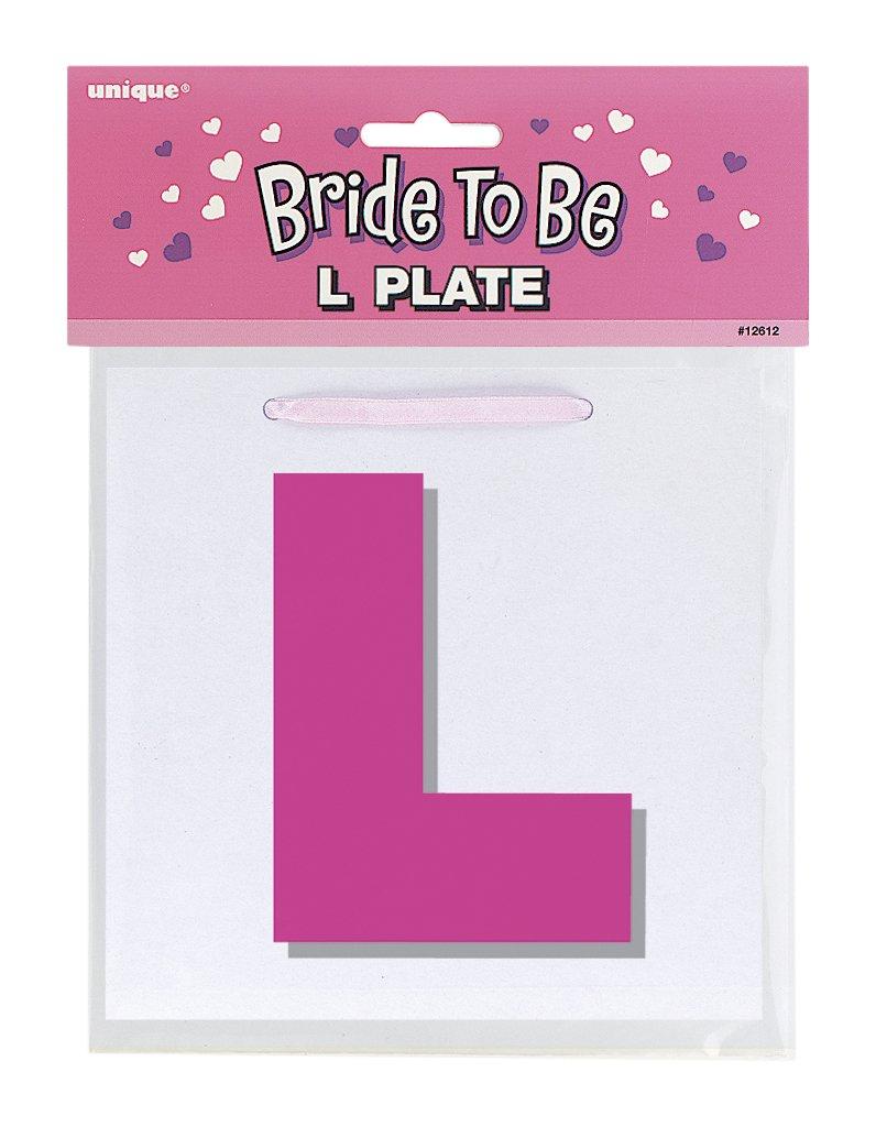 Bride To Be L Plates Unique Party 12612