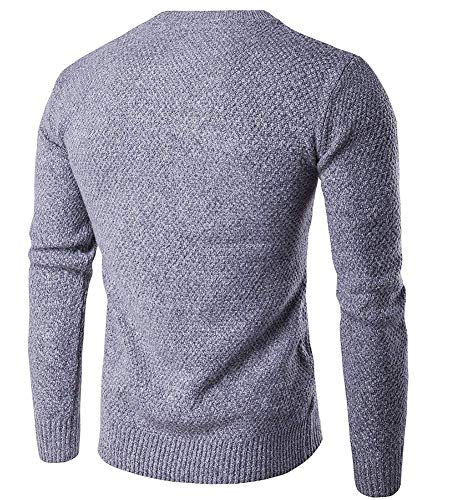 Jerseys Hellgrau Hombres Punto Redondo Suéter Betrothales Sweater Pullover Cuello a8gwYaWq7