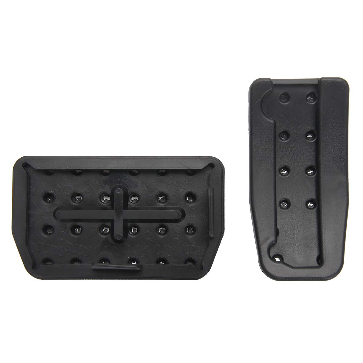 Non-Slip Foot Pedal Pad Auto Aluminum Pedal Covers, A Set of 2 DeCuLo Gas and Brake Pedal Pads Covers for Tesla Model X Model S