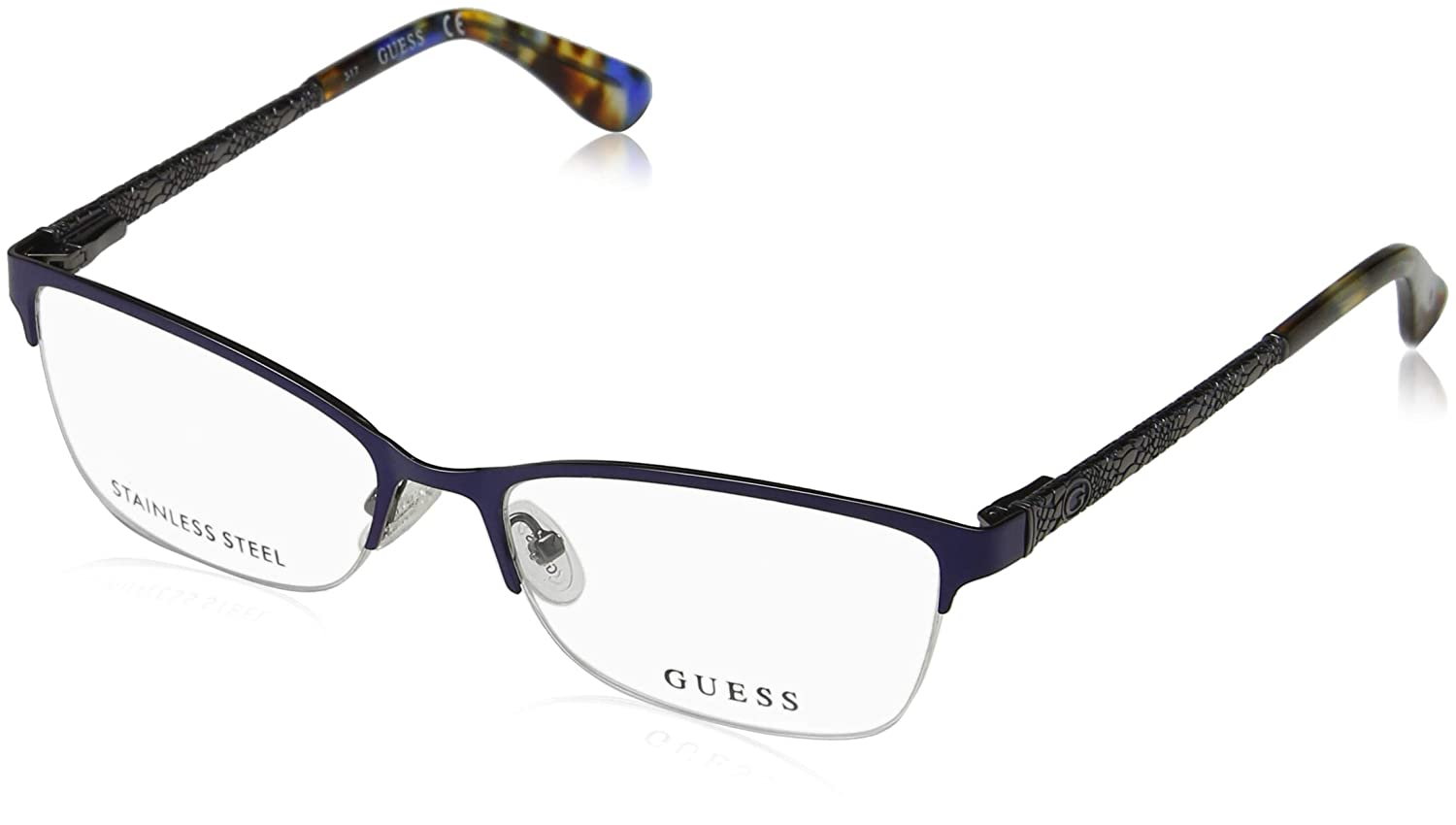 Amazon.com: anteojos Guess GU 2613 091), color azul mate ...