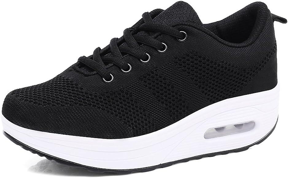 Zapatillas Deportivas Mujer Zapatos Deporte Gimnasio Cuña Zapatillas de Running Ligero Sneakers Cómodos Fitness Zapatos de Trabajo Zapatillas Casual