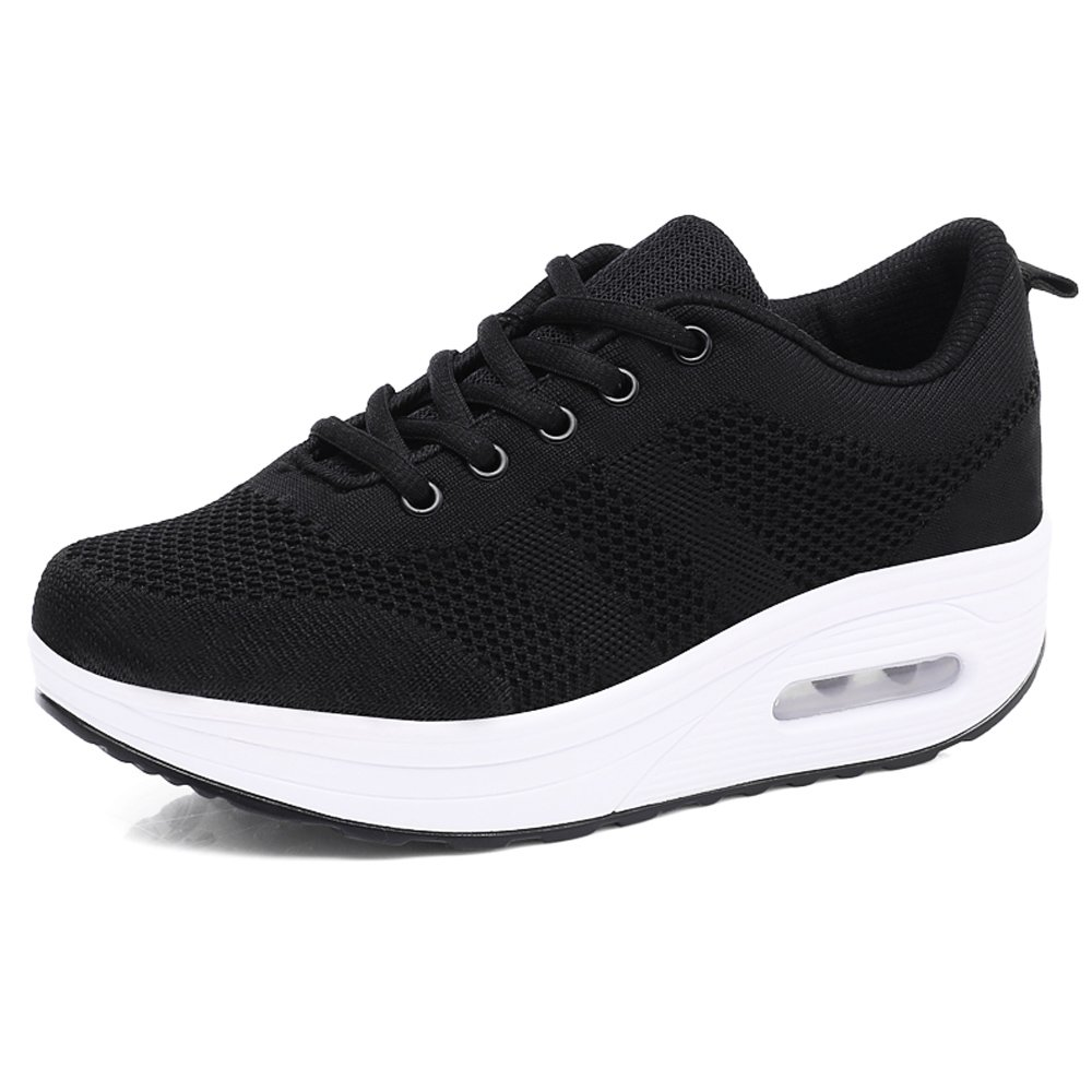 Women Comfort Walking Shoes Casual Tennis Lightweight Sneakers Wedges Air Cushion Slip On Fitness Shoes