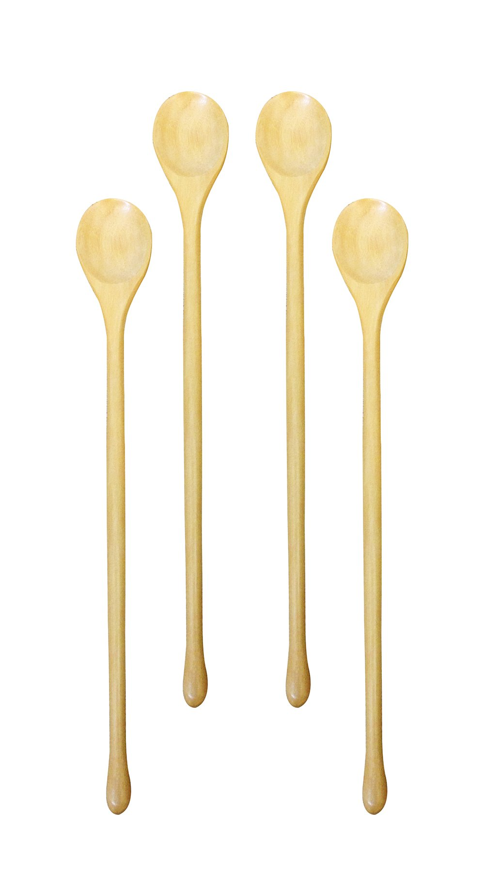 (Set of 4) Omin Handmade Natural Kankrao Wood Long Handle Wooden Spoons, Cocktail Drink Stirrers, Swizzle Sticks, Bar Spoon Cocktail Mixing Spoon 8.2 Inch with Gift Package