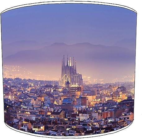Premier Lighting Ltd 20cm Ciudad de Barcelona Pantallas de lámparas10 para una lámpara de Mesa: Amazon.es: Hogar