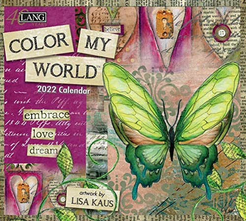 Mit Calendar 2022.Amazon Com Lang Color My World 2022 Wall Calendar 22991001854 Office Products