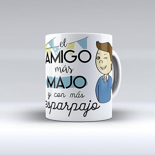 APRIL Taza cerámica Desayuno Regalo Original cumpleaños Amigo El Amigo más majo y con más desparpajo