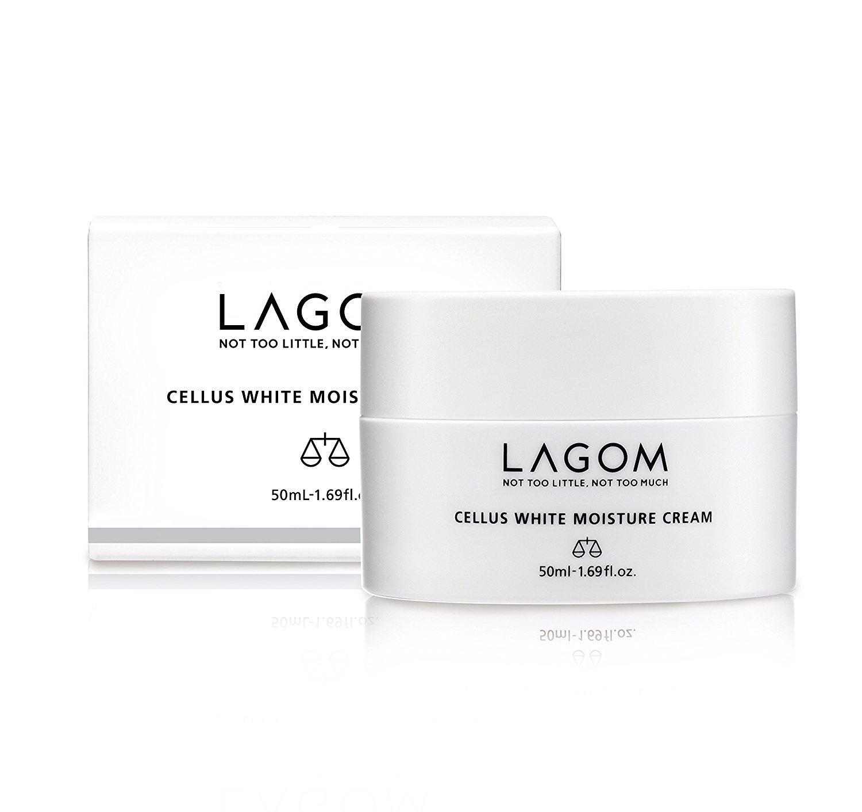 Crema hidratante iluminadora Lagom White Moisture Cream   Cosmética Coreana  Con células madres extraidas del arroz   50 ml