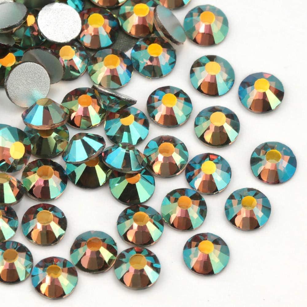 PENVEAT SS3-SS30 Cristal Rhinestone Flatback DIY Cuentas de decoración de uñas no Hot-Fix Use Glue 1440pcs Wedding Deco, SS5-1440pcs