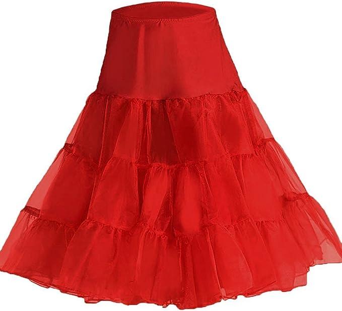 Babyonline Falda roja de tul mini tutú con varias capas talla m ...