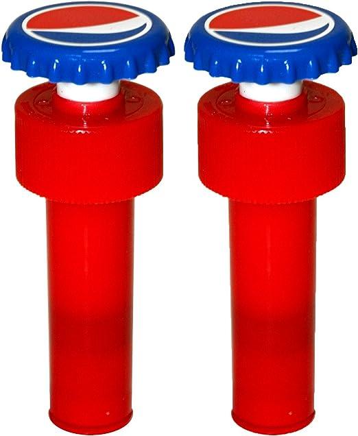 Jokari Pepsi Modern Logo Fizz Keeper Pump Cap Soda Bottle