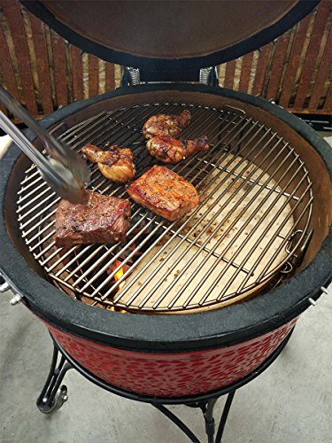 Onlyfire BBQ Cooking Grate System Fits for Large Big Green Egg,Kamado Joe  Classic,Pit Boss,Louisiana,Large Grill Dome,and Other Kamado Grill